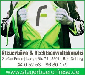 Steuerbüro & Rechtsanwaltskanzlei Frese