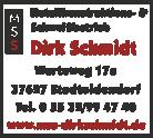Metallkonstruktions-& Schweißbetrieb Dirk Schmidt