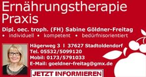 Ernährungstherapie Praxis Göldner-Freitag