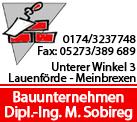 Dipl.- Ing.Matthias Sobireg Bauunternehmen GmbH & Co. KG